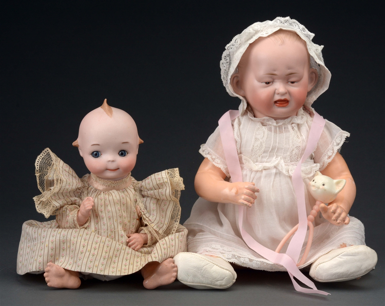LOT OF 2: RARE TWO FACED H & S BABY AND A.M. 240 GOOGLEY.