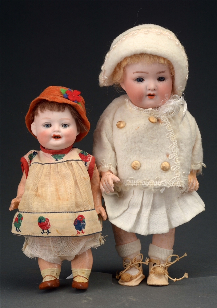 "LOT OF 2: 7"" BONNIE BABE & 9"" HK TODDLER DOLLS."