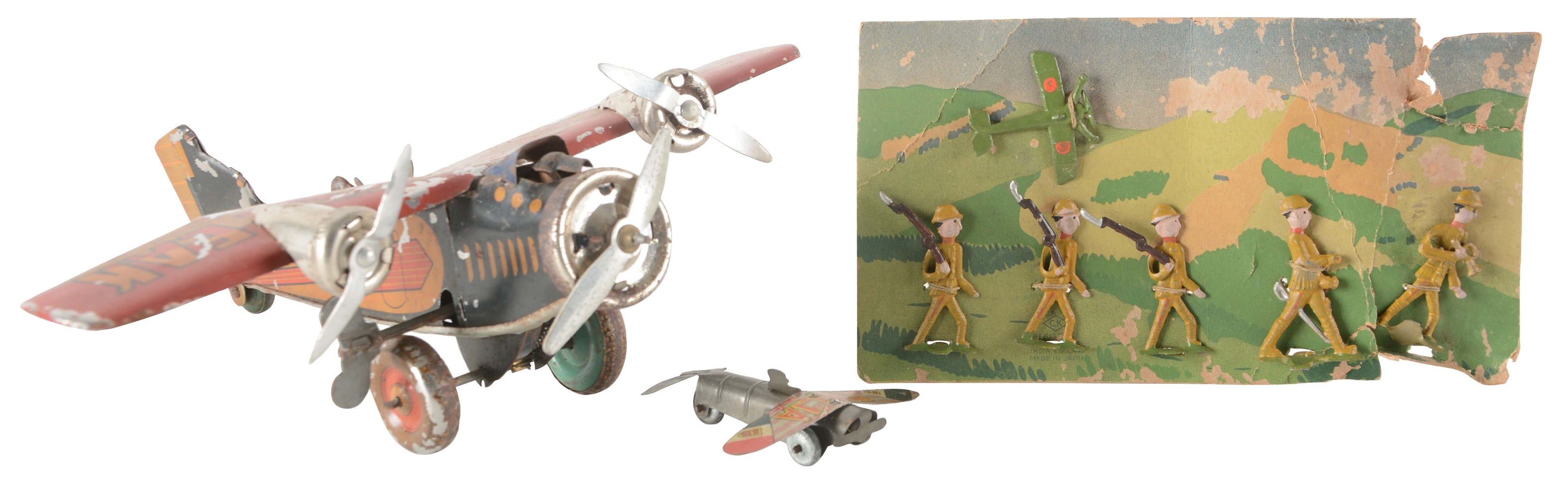 Lot Of 3: Pre-War Japanese Military Toys.
