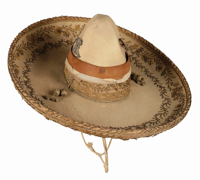 Two Tone Sombrero With Gold Bullion.