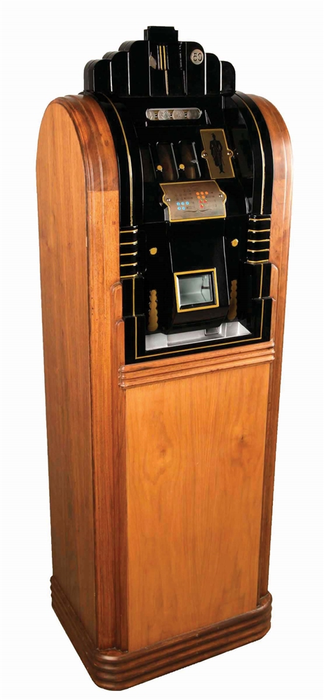 **50¢ MILLS NOVELTY CO. EXTRAORDINARY BELL CONSOLE SLOT MACHINE.