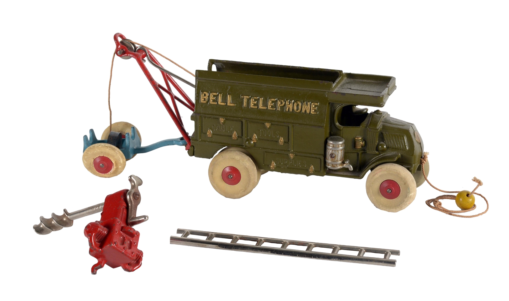 Cast Iron Hubbly Large Size Bell Telephone Truck.