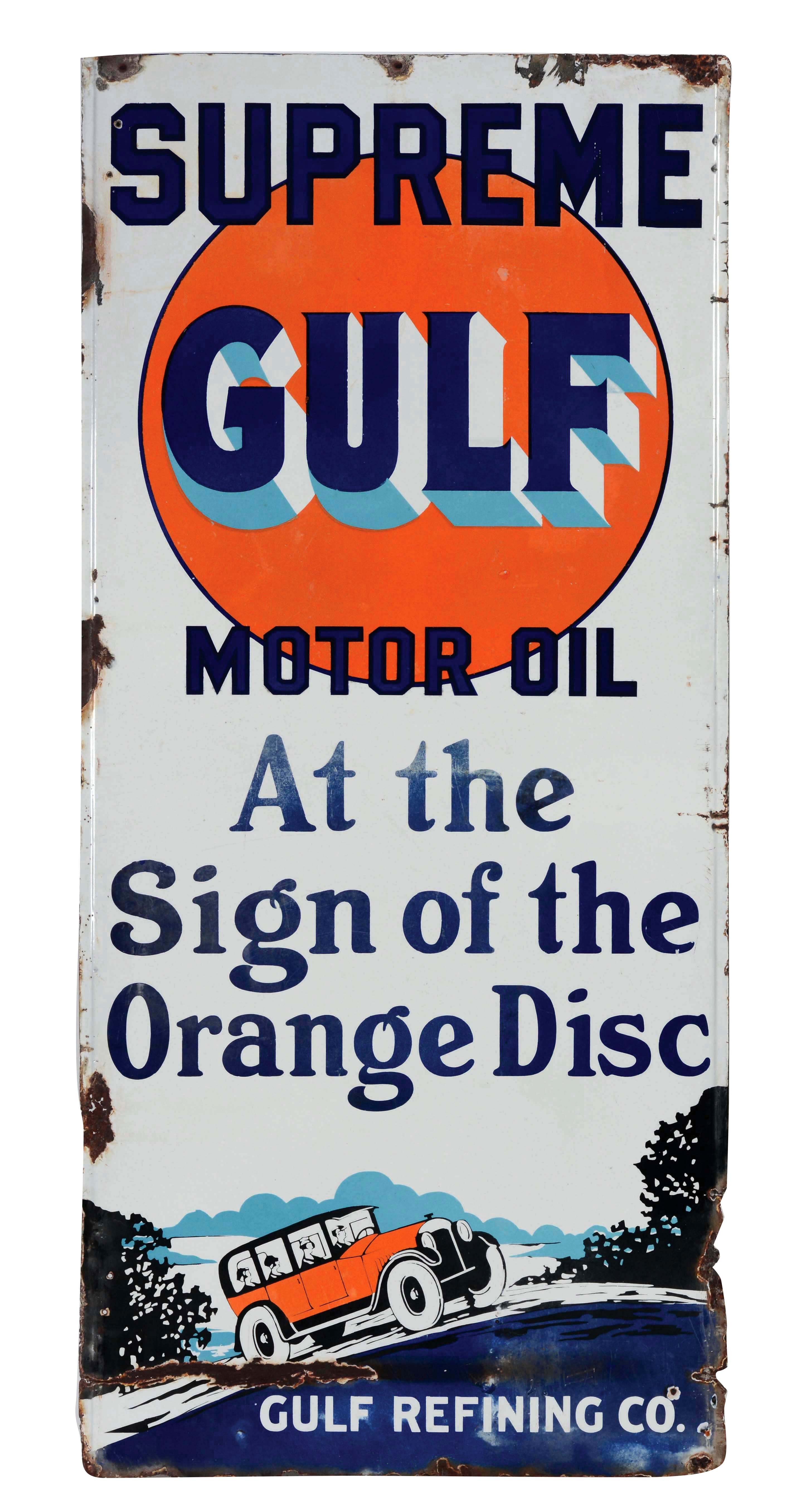 ~~~~Cast iron GULF RESTROOM gasoline sign motor oil pump plates ~~~~~