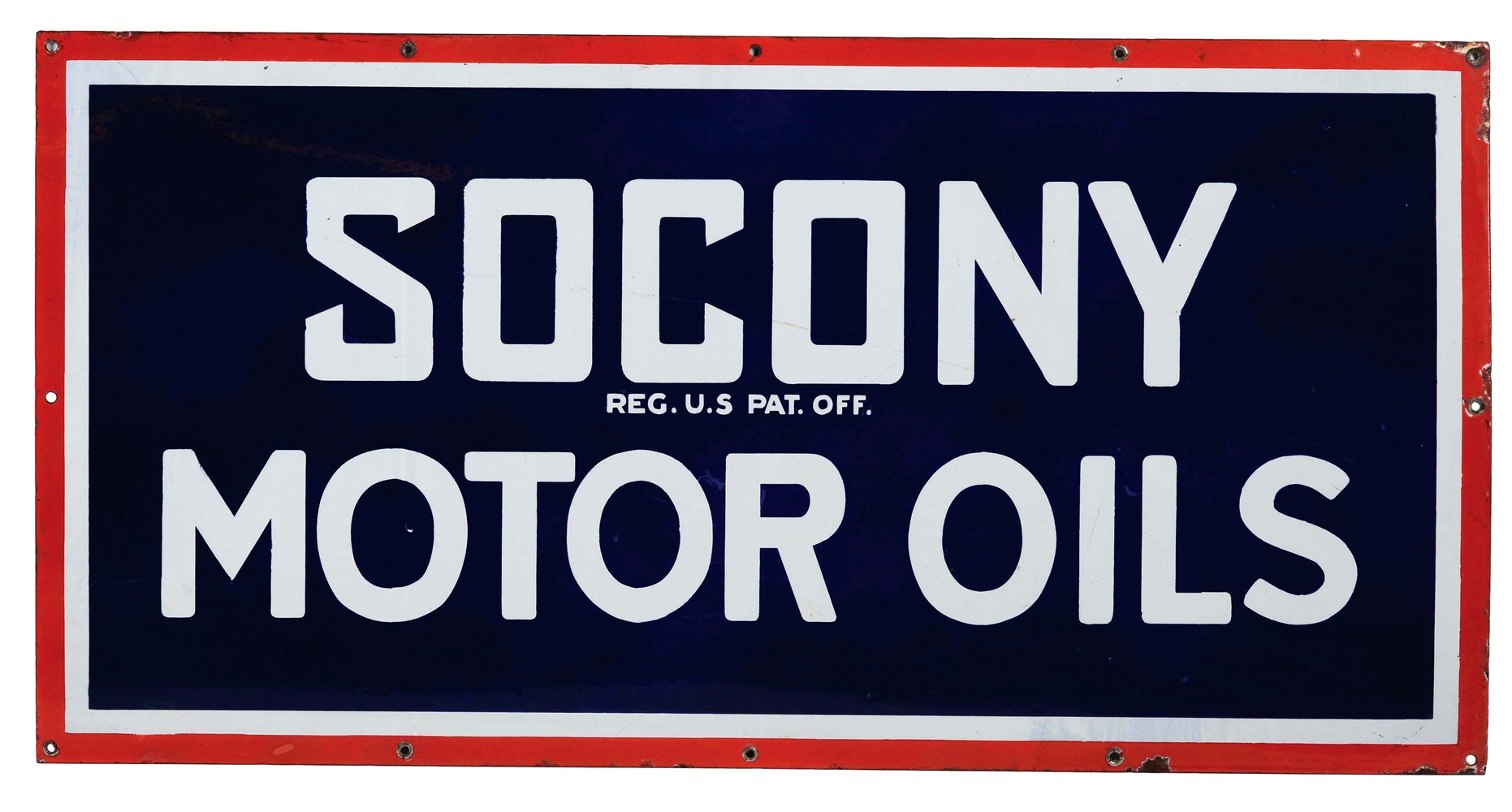 Socony Motor Oils Porcelain Sign.