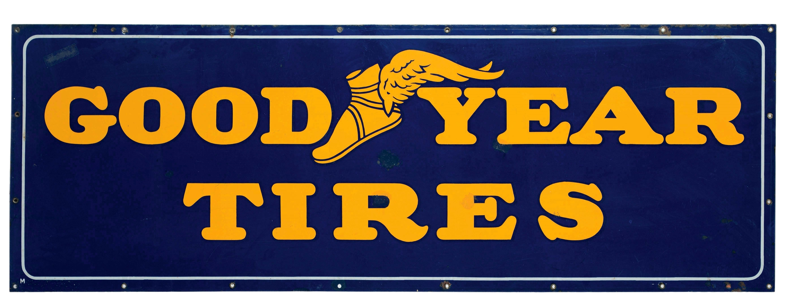 Goodyear Tires Porcelain Service Station Sign.