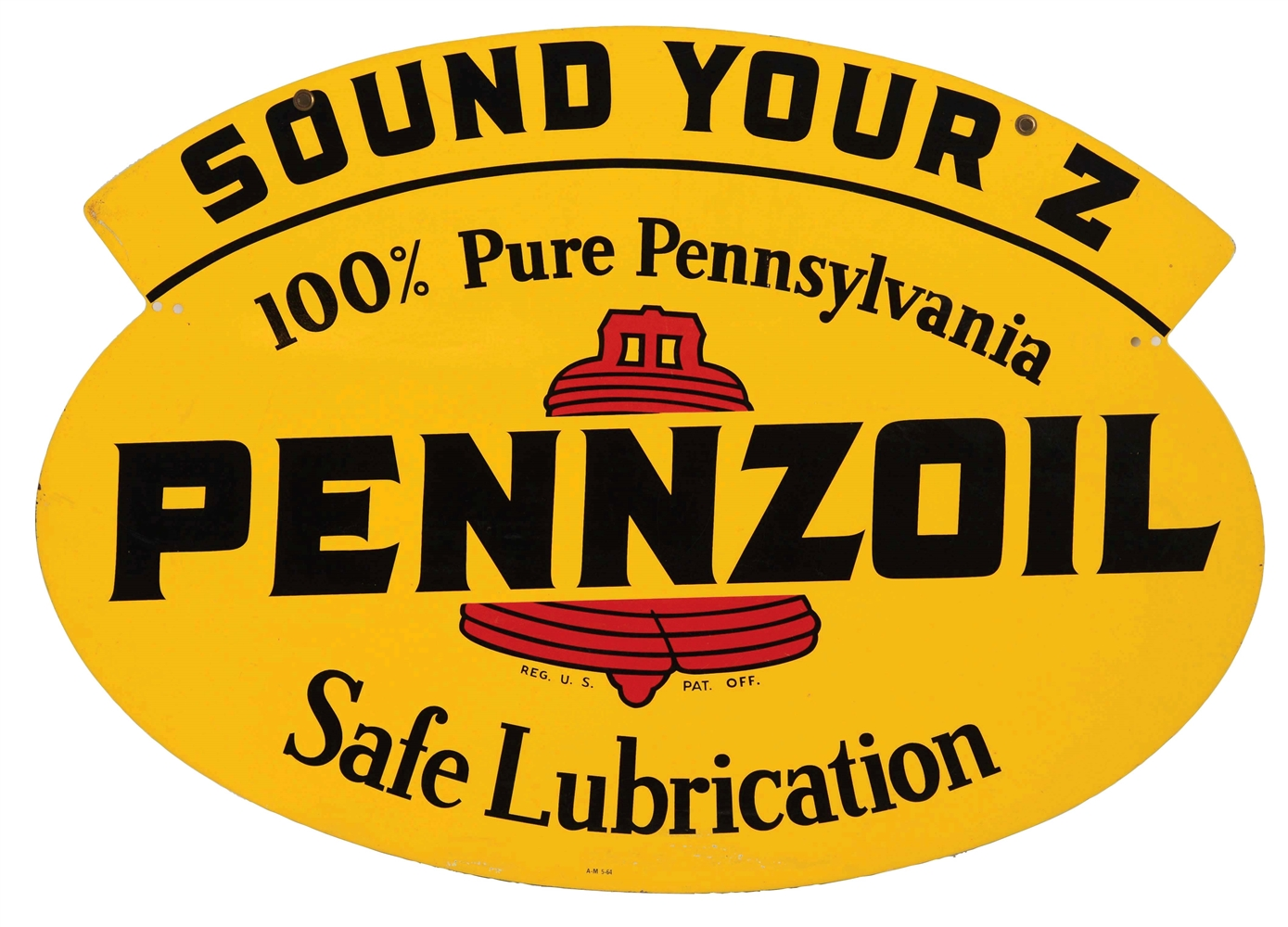 Pennzoil Sound Your Z Safe Lubrication Tin Sign.