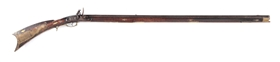 "(A) FULLSTOCK FLINTLOCK KENTUCKY RIFLE MARKED ""STEPHEN KOCHER 1831""."