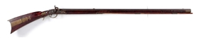 "(A) FULLSTOCK PERCUSSION KENTUCKY RIFLE MARKED ""A. KISER""."
