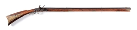 "(A) FLINTLOCK KENTUCKY RIFLE SIGNED ""P. HESS""."