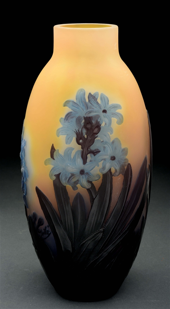 Galle Mold Blown Hyacinth Vase.