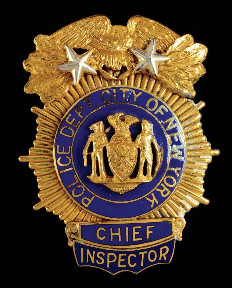 New York City Police Department Chief Inspectors Badge.