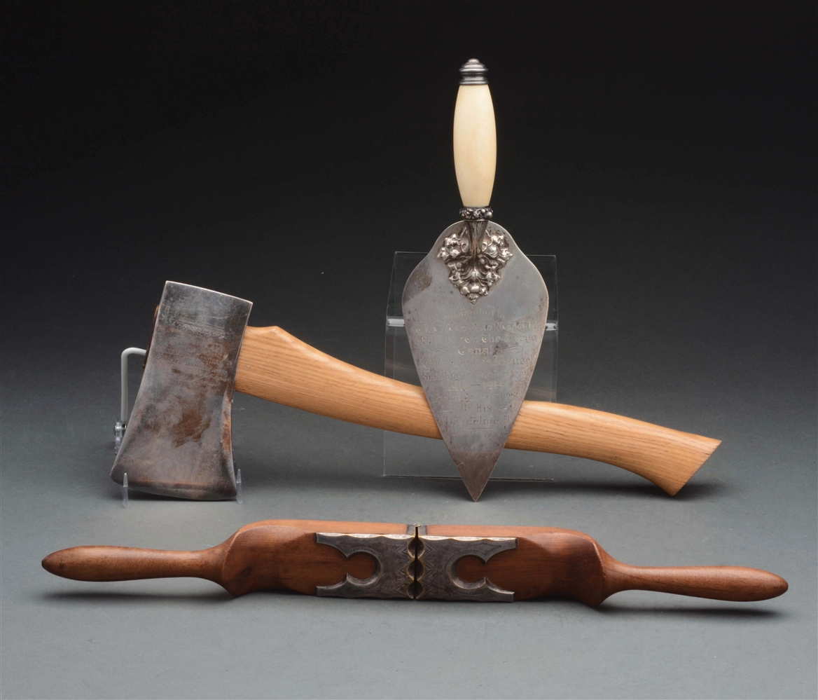 Sterling Trowel, Nutcracker & Ax.