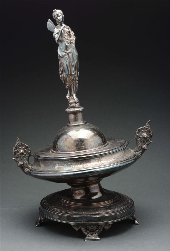 American Silver Plated Trophy With Lid.