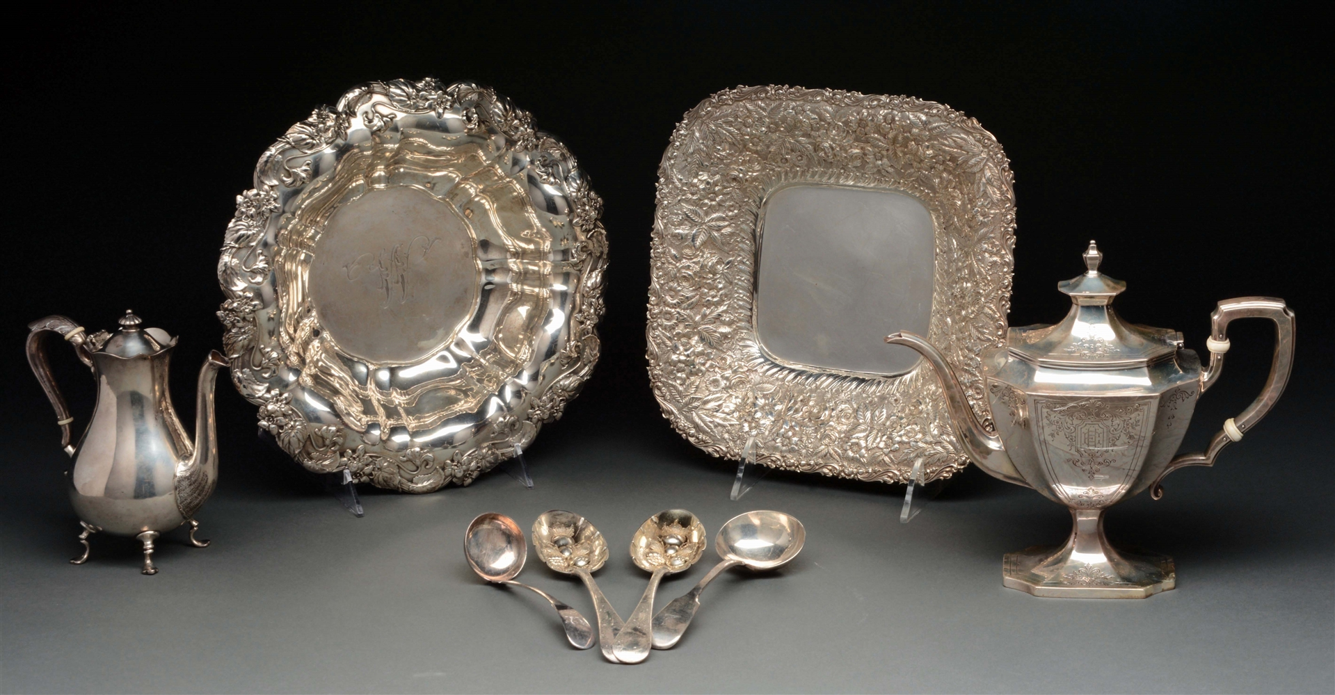 A Group of Sterling Tablewares.