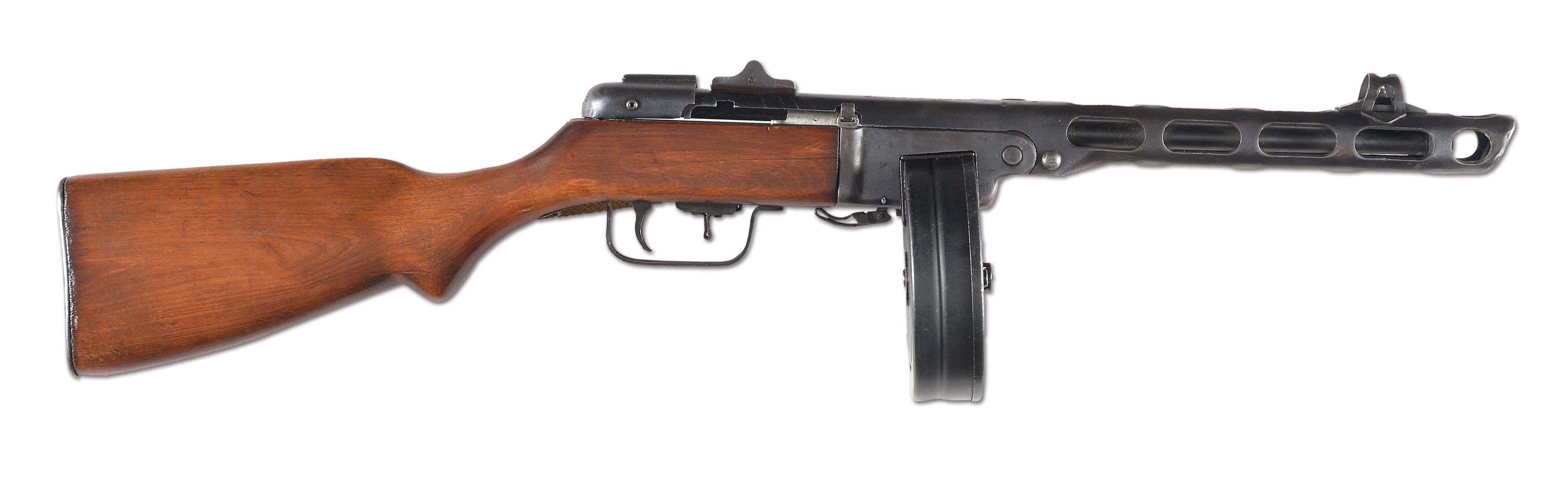 (N) ABSOLUTELY STUNNING CONDITION ORIGINAL AMNESTY REGISTERED RUSSIAN PPSH-41 MACHINE GUN WITH COPY OF ORIGINAL AMNESTY REGISTRATION FORM (CURIO AND RELIC).