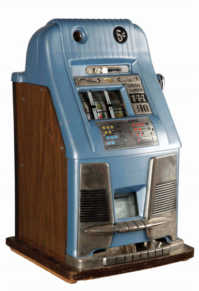 **5¢ MILLS NOVELTY CO. 777 HIGH TOP SLOT MACHINE.
