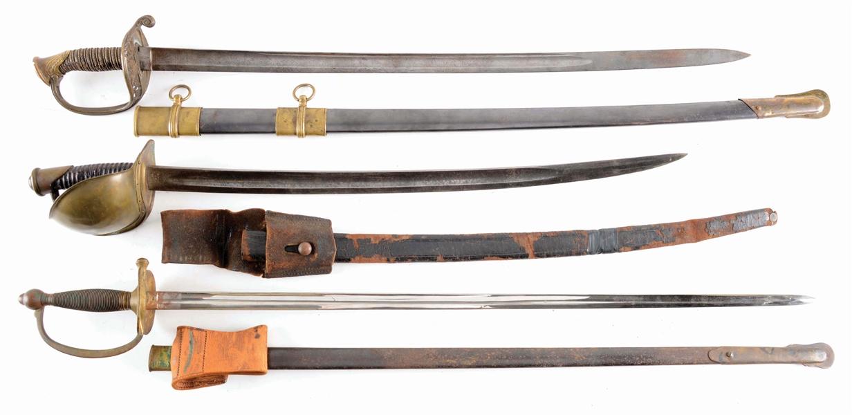 Lot Detail - LOT OF 3: CIVIL WAR SWORDS