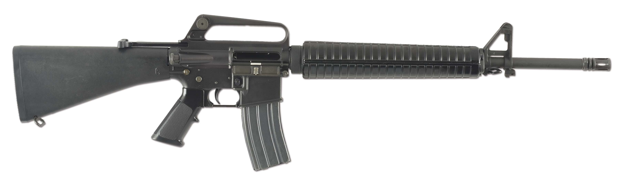 (N) INCREDIBLY RARE AND DESIRABLE GROUP INDUSTRIES STAINLESS STEEL M16A1 MACHINE GUN (FULLY TRANSFERABLE).
