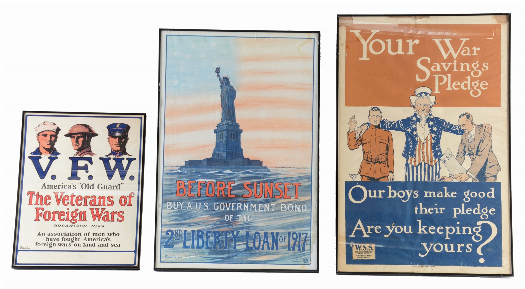 LOT OF 3: WORLD WAR ONE POSTERS.