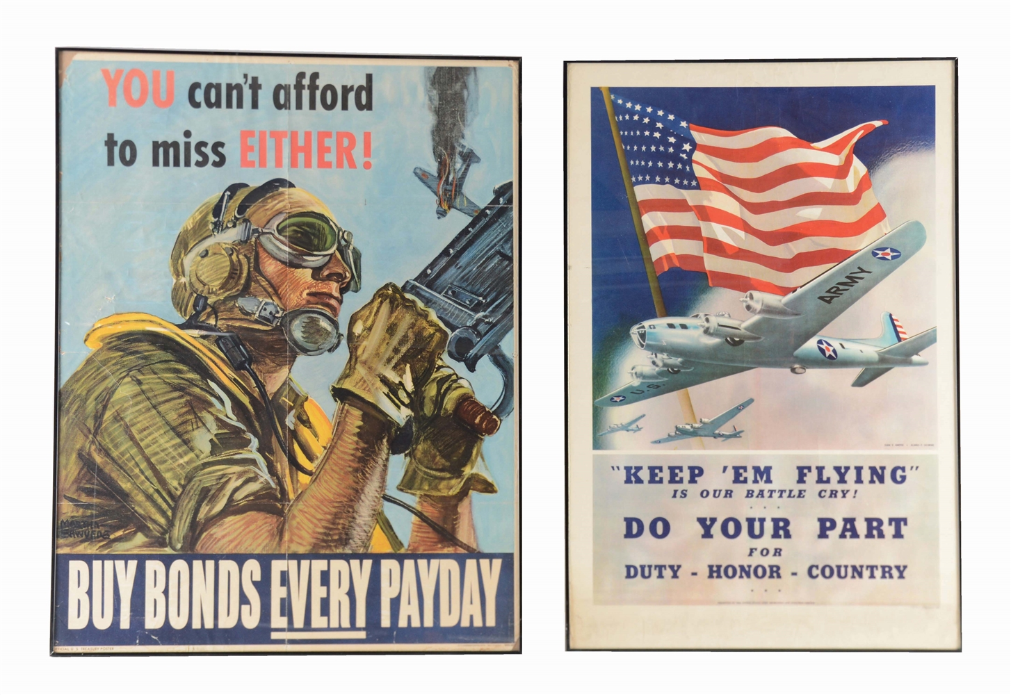 LOT OF 2: WORLD WAR II U.S. AIR CORP POSTERS