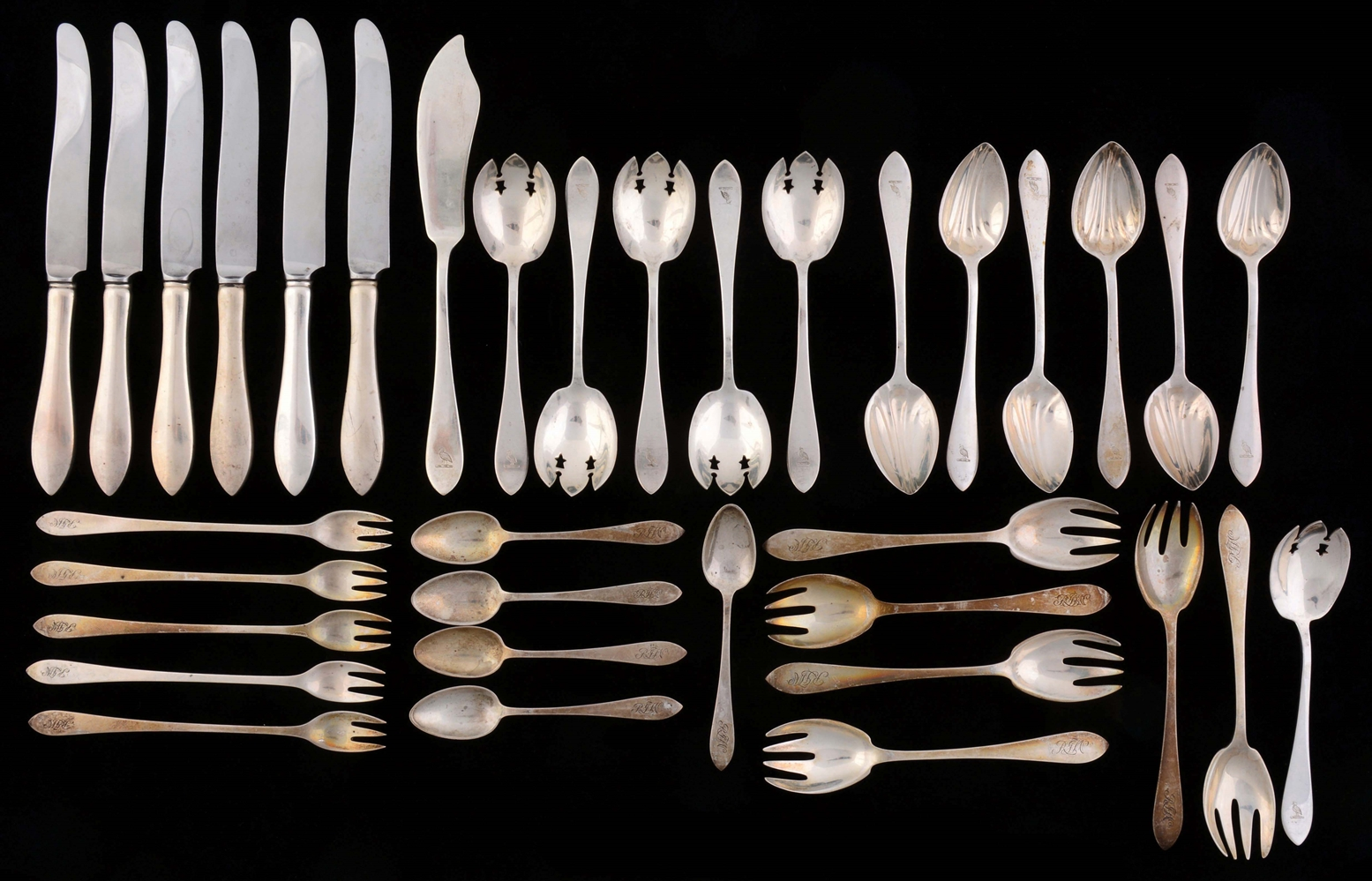A Group of Tiffany and Cartier Flatware.