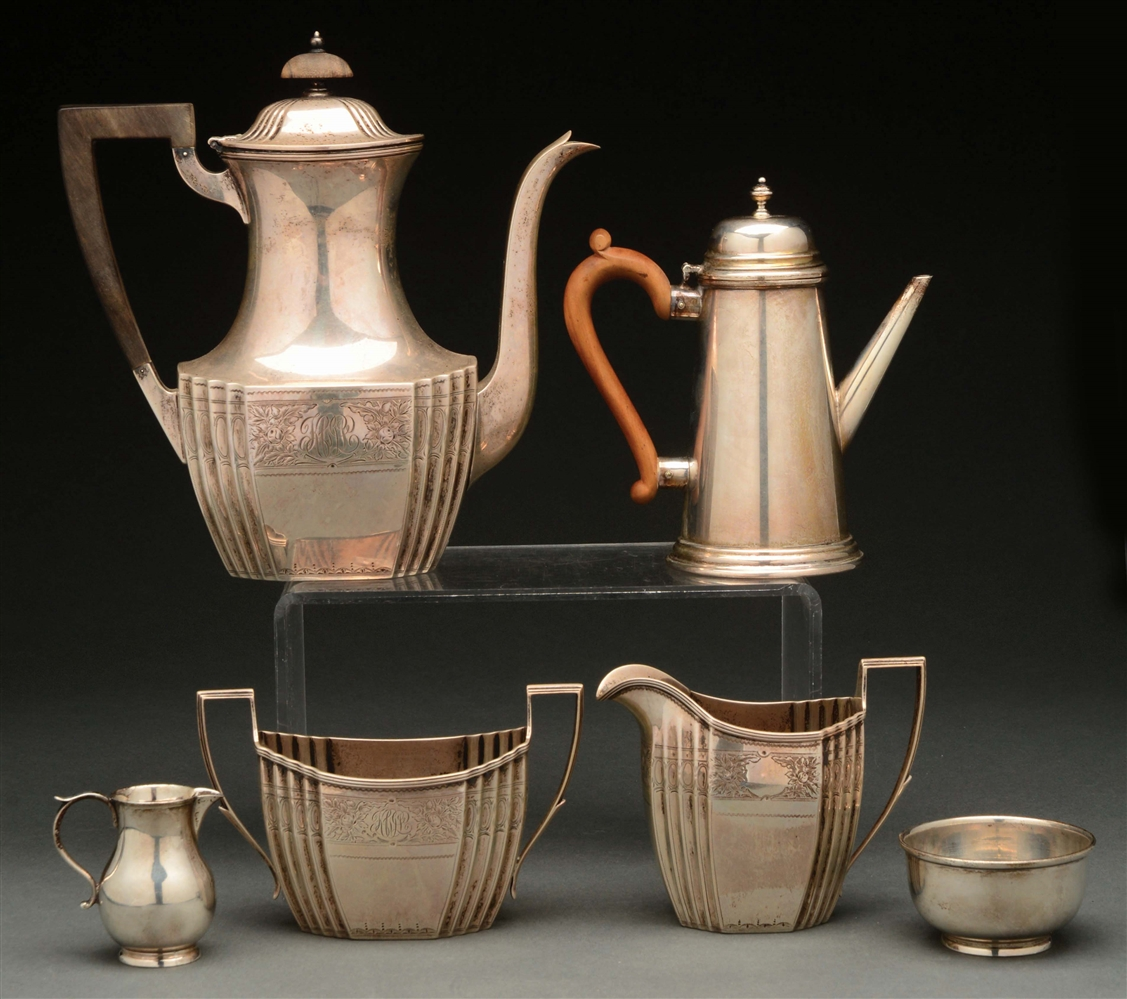 Two Sterling Coffee Sets.