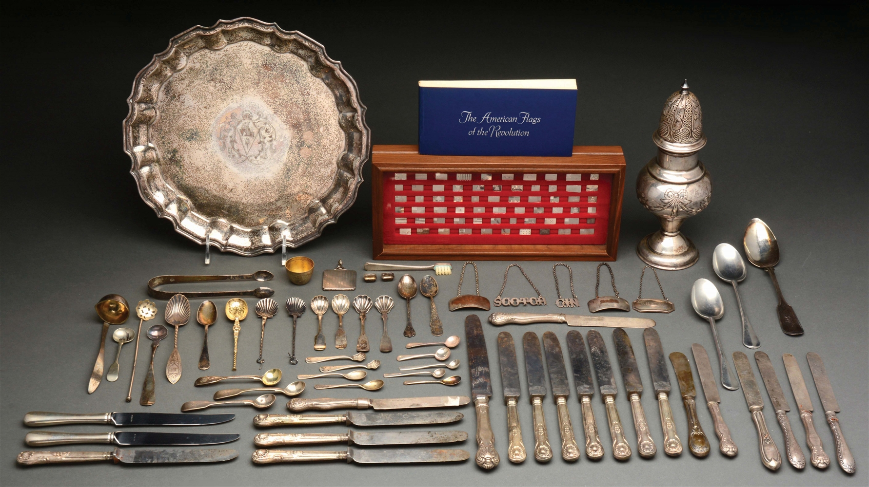 A Group of Sterling and Plated Wares.