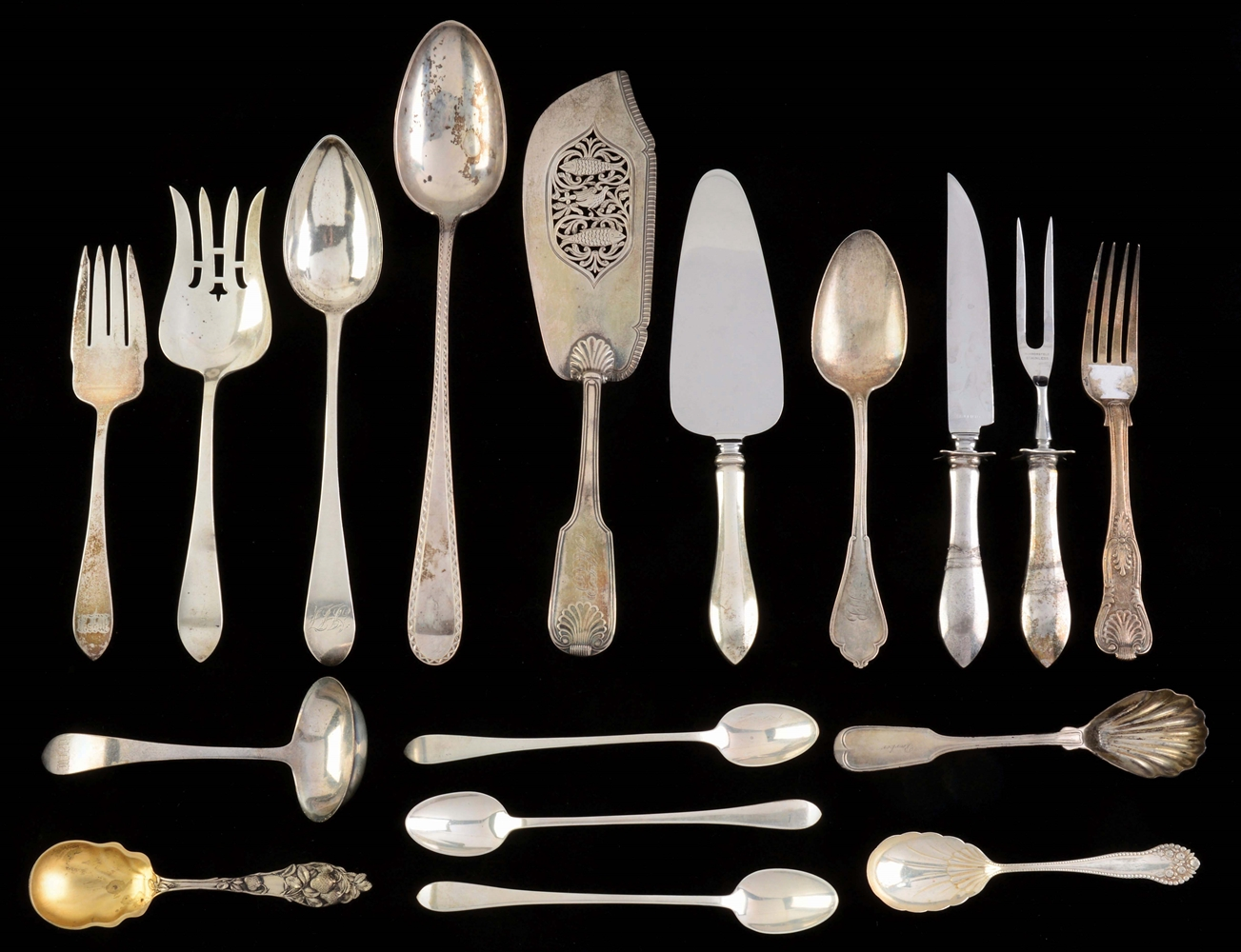 A Group of Sterling Flatware.