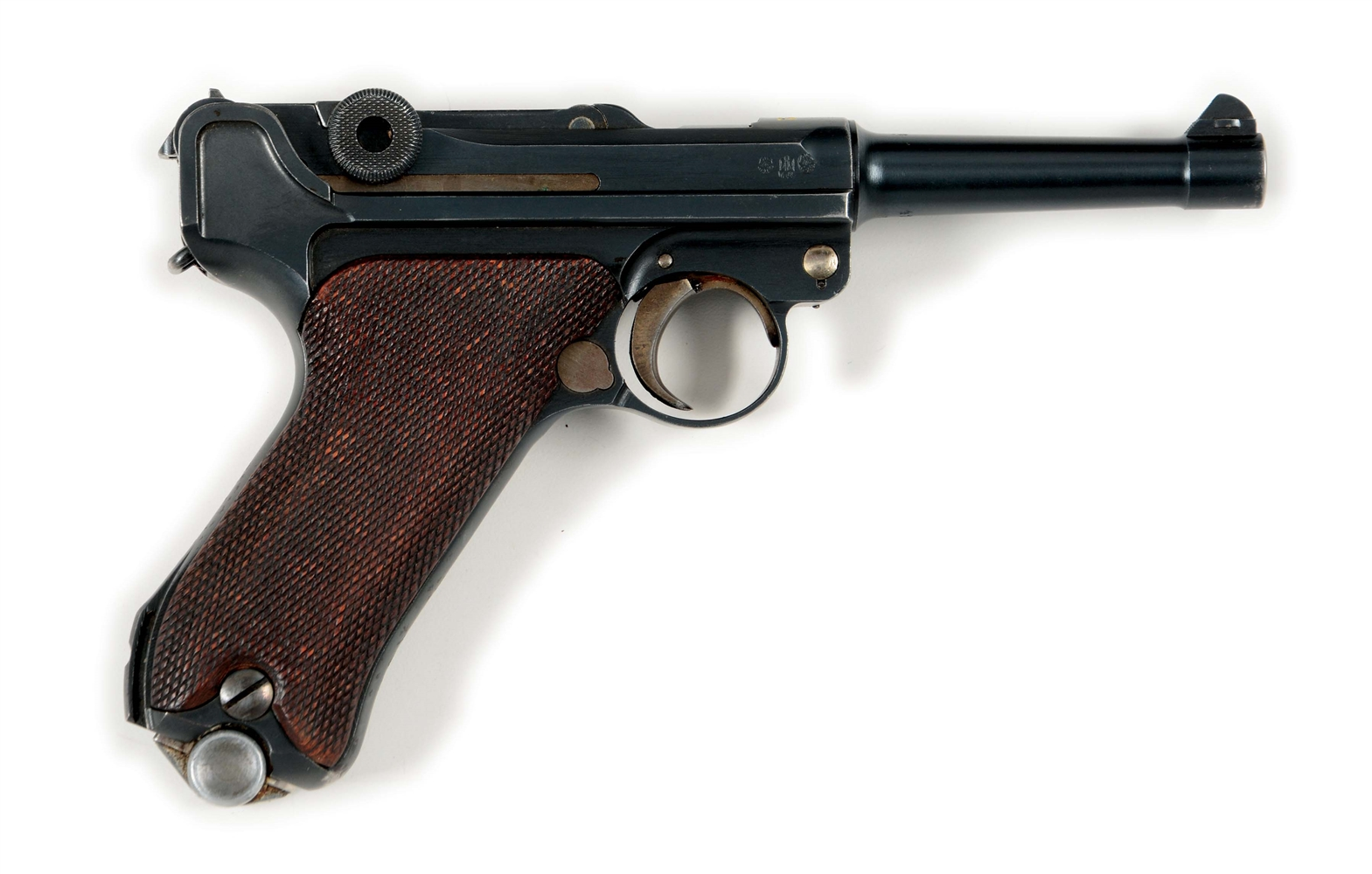 (C) DWM 1921 DATED POLICE LUGER SEMI-AUTOMATIC PISTOL.