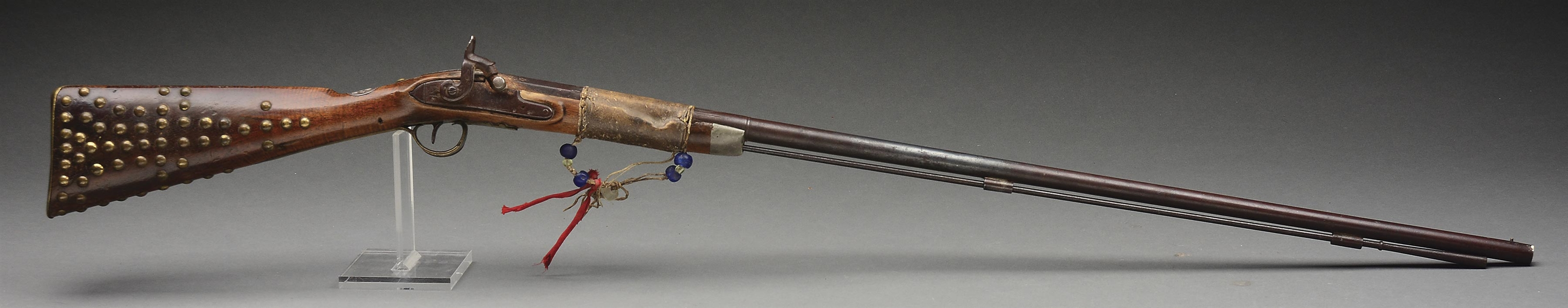 (A) RARE AND DOCUMENTED AUTHENTIC WHEELER INDIAN CHIEFS TRADE MUSKET.
