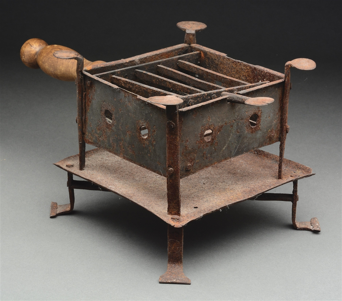 REVOLUTIONARY WAR CAMP STOVE, EX-GEORGE NEUMANN COLLECTION.