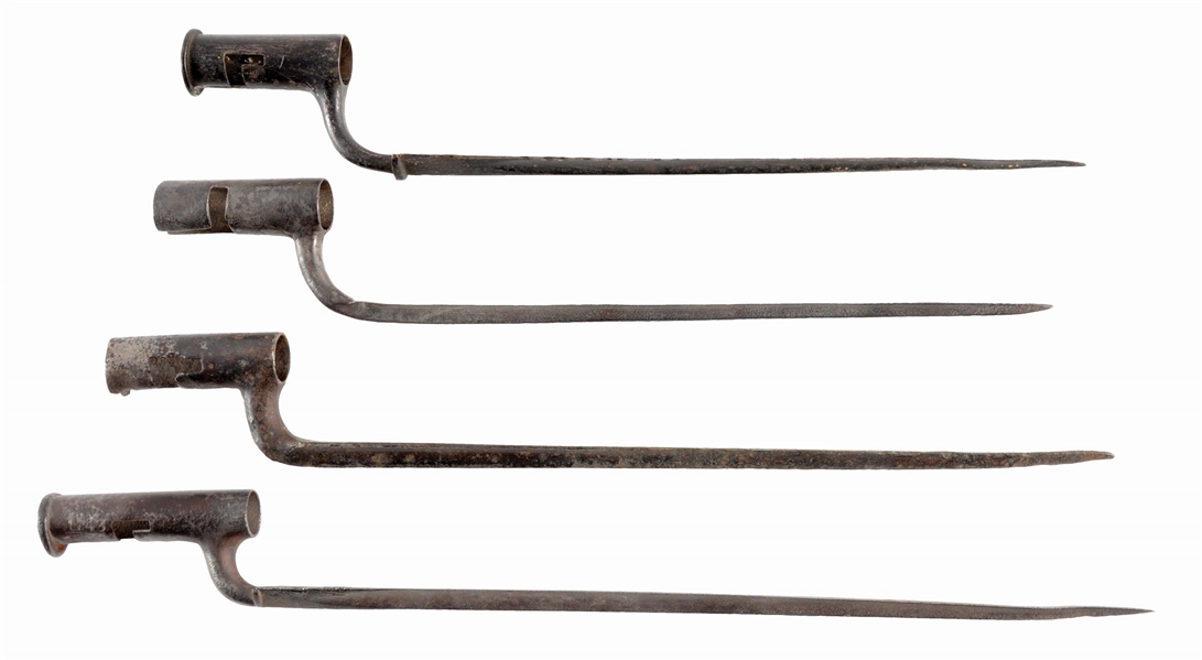 Lot Detail - LOT OF 4: REVOLUTIONARY WAR PERIOD BAYONETS