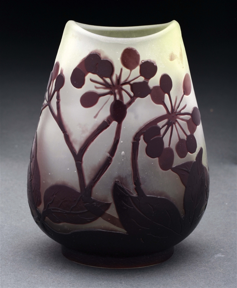 Galle Cameo Vase.