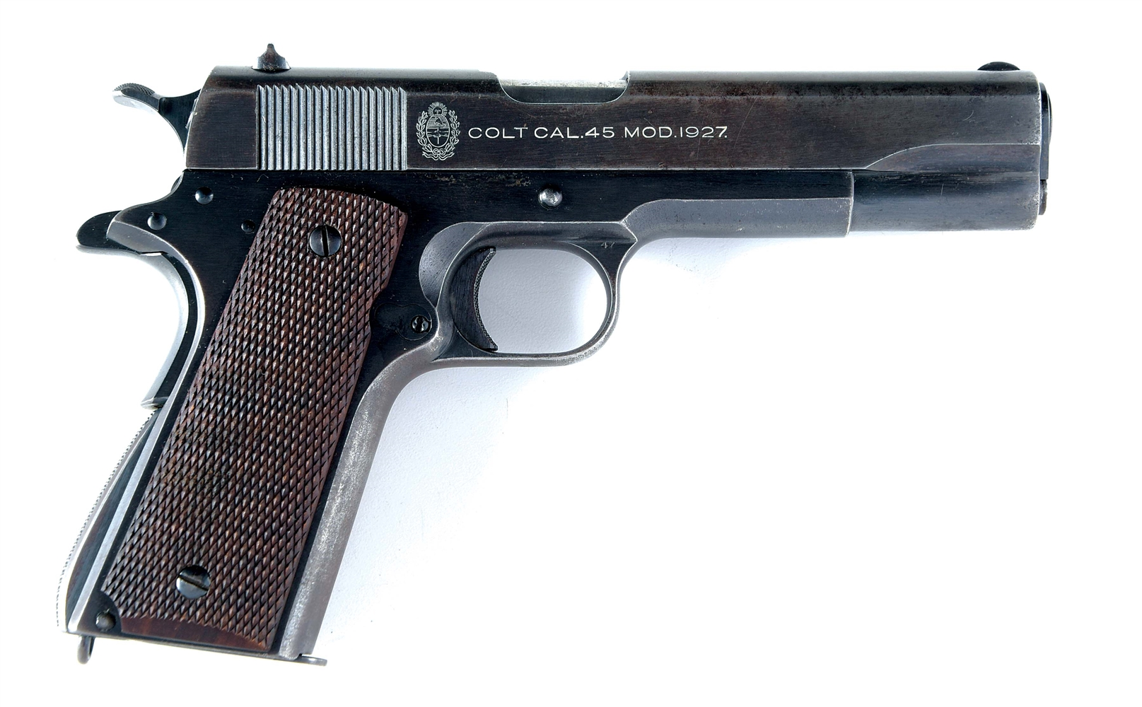 (C) EARLY SERIAL NO. 9 COLT ARGENTINE MODEL 1927 SEMI-AUTOMATIC PISTOL.