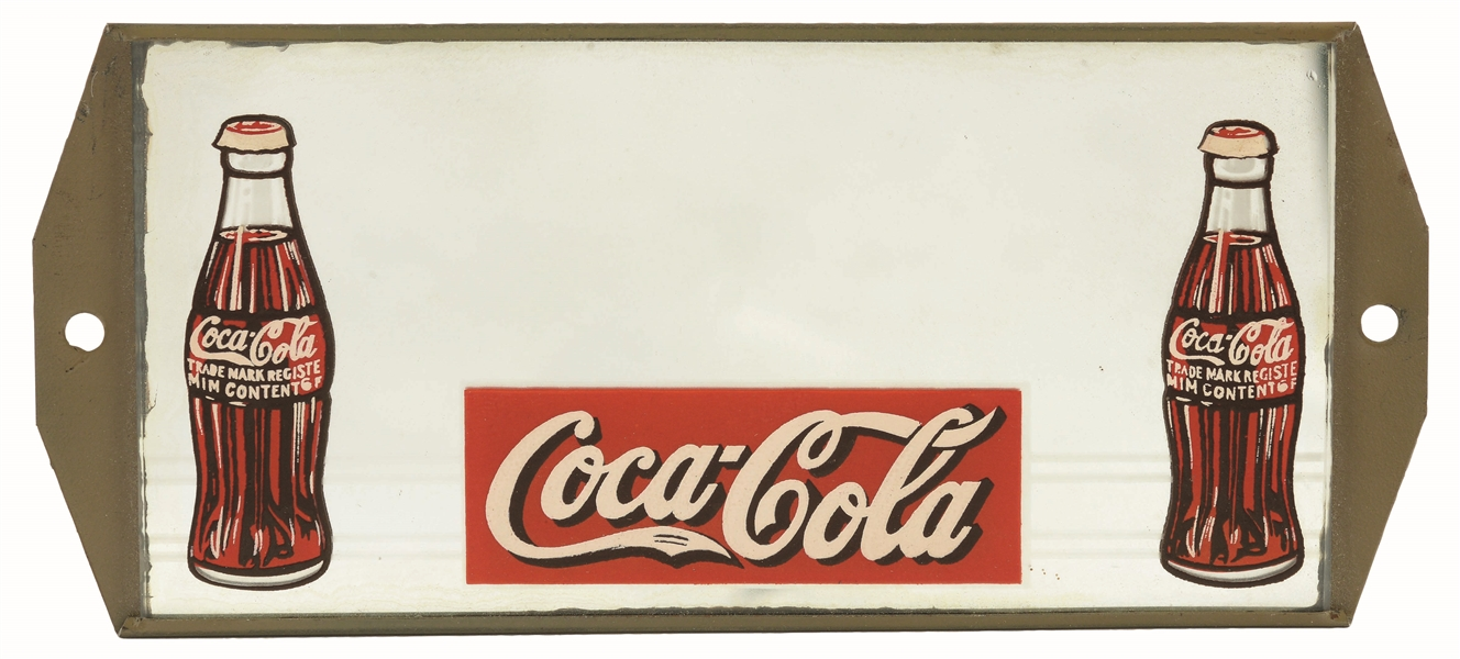 CIRCA 1930S SMALL COCA-COLA MIRROR.