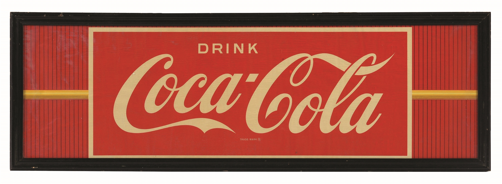 1940S COCA-COLA UNAPPLIED WINDOW DECAL.