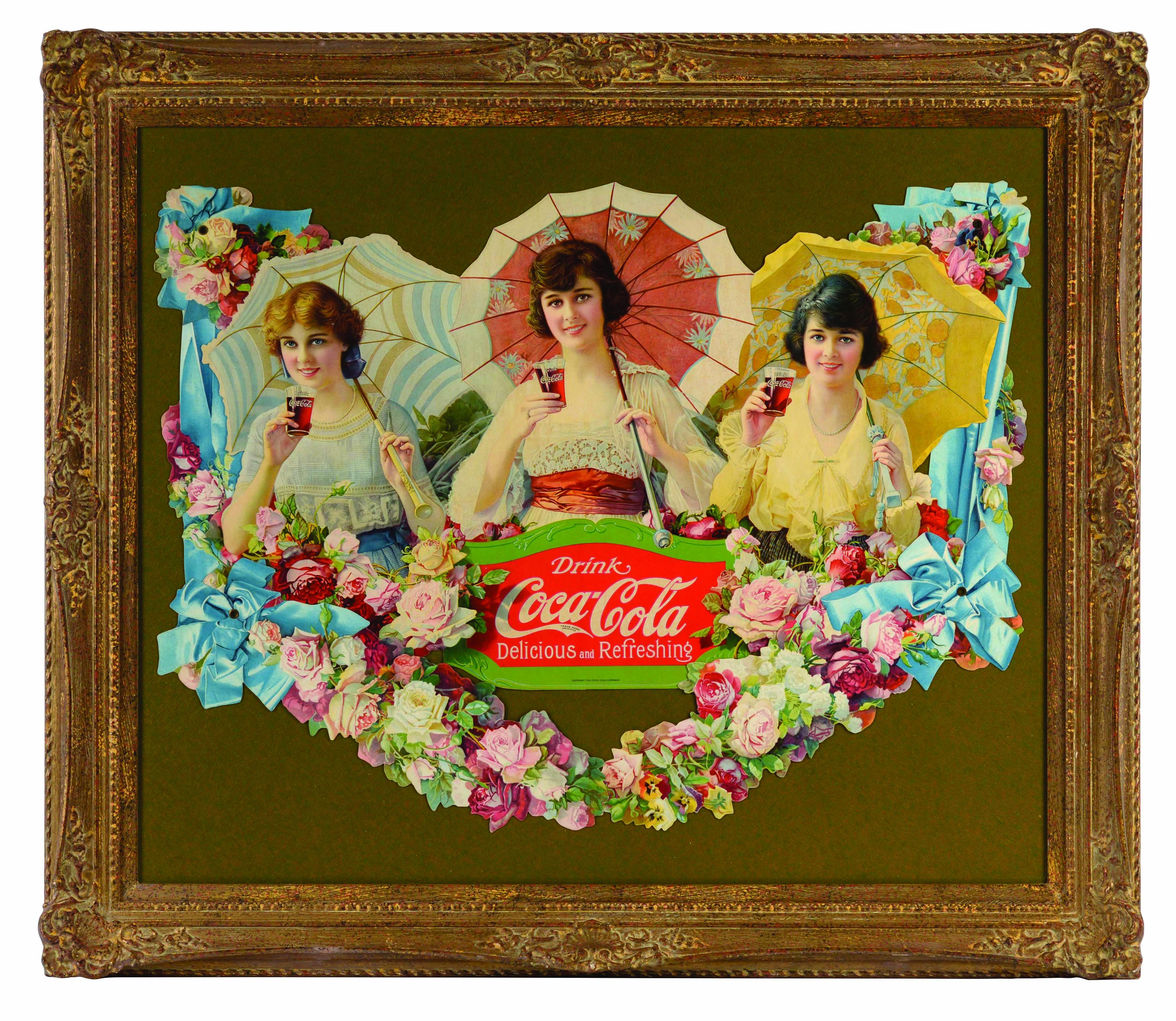 Impressive 1918 Coca-Cola Umbrella Girls Festoon.
