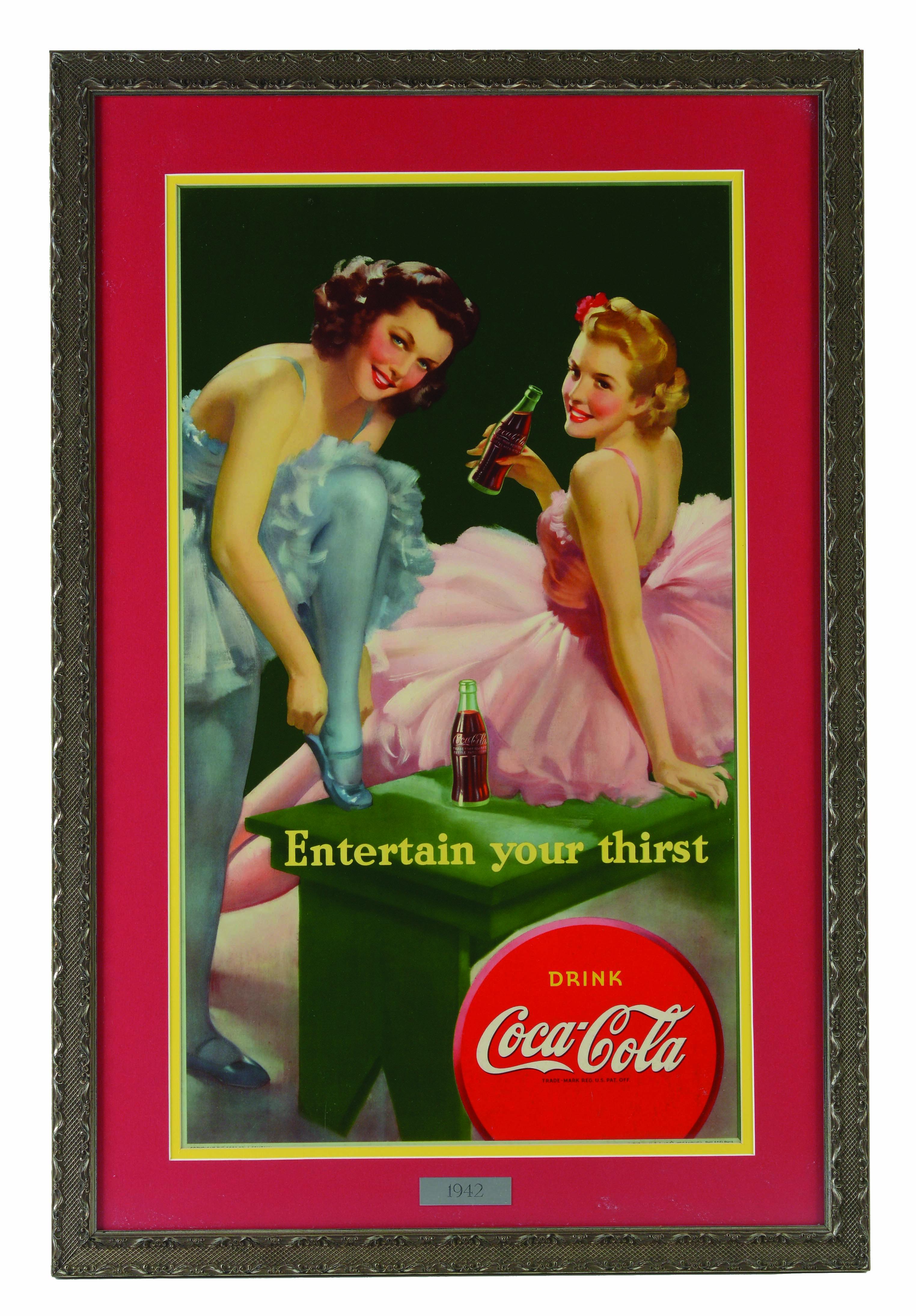 1942 Coca-Cola Ballerinas Small Vertical Poster.