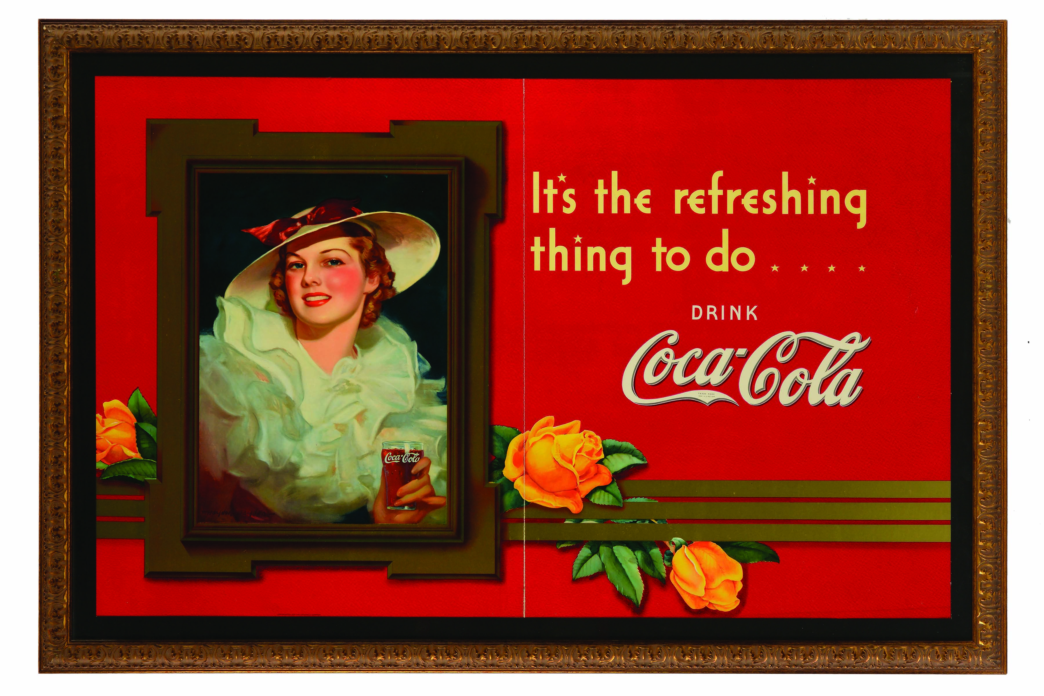Important 1937 Coca-Cola Cardboard Window Display.