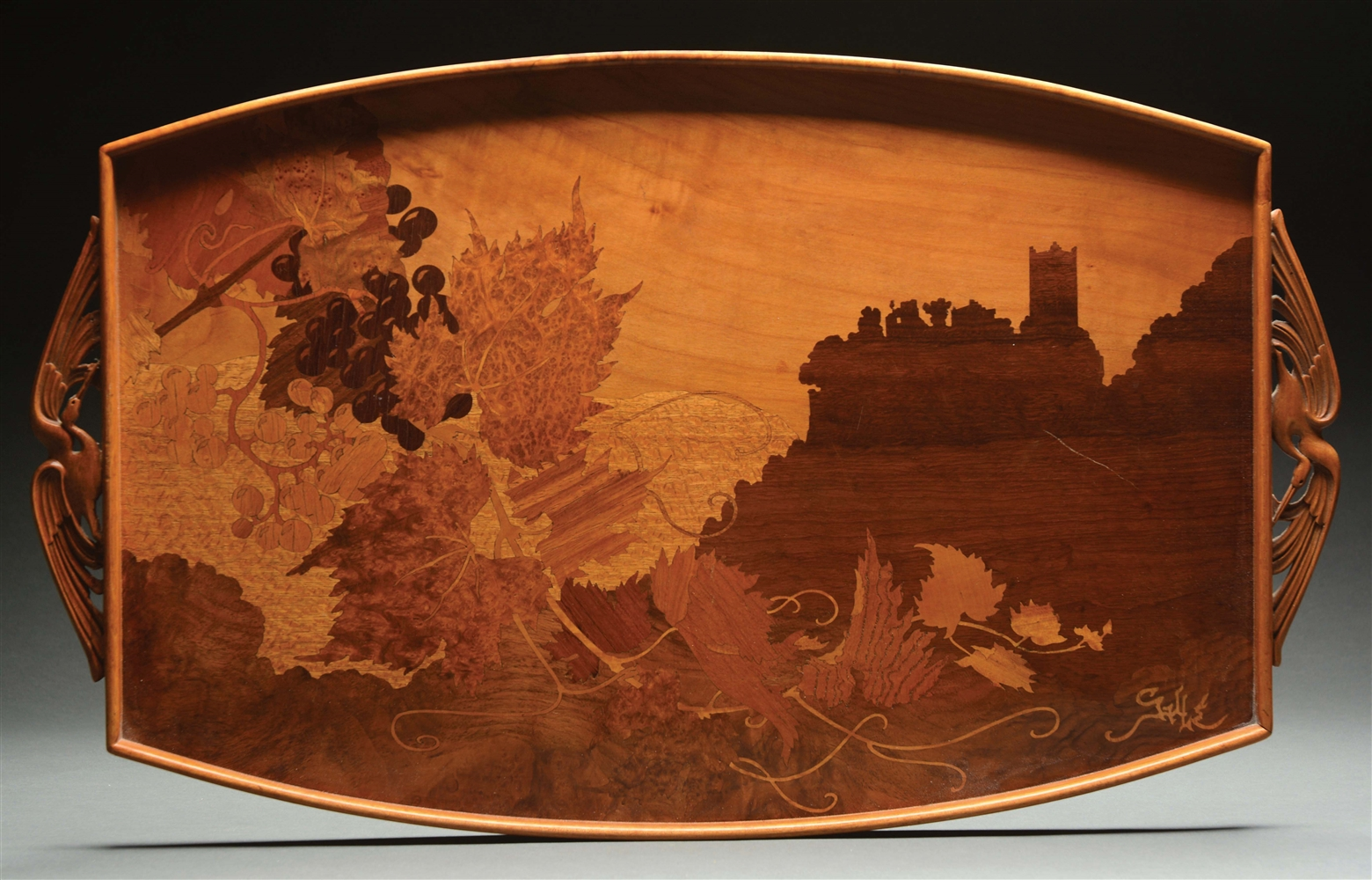Galle Marquetry Tray.