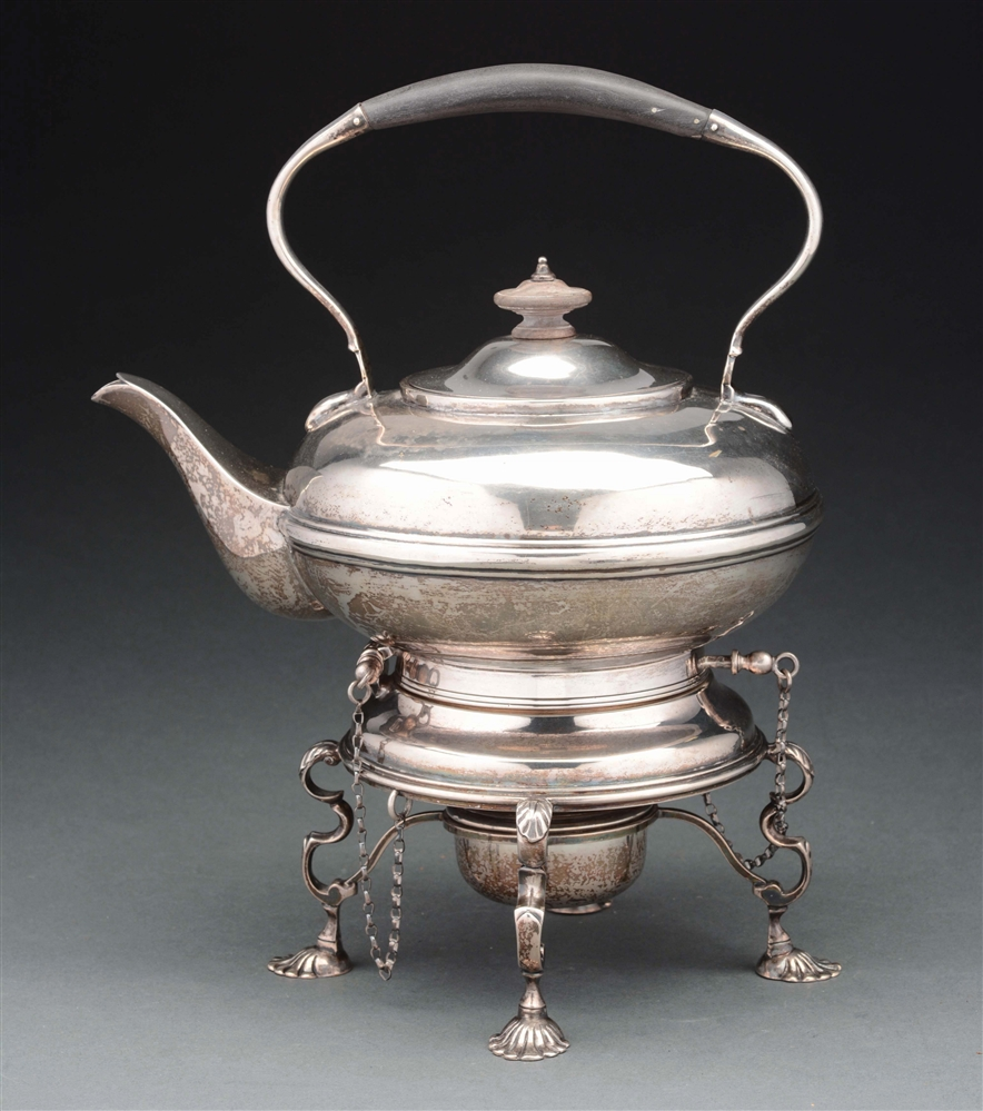 John Newton Mappin & Webb Sterling Silver Tea Kettle, 1895, London