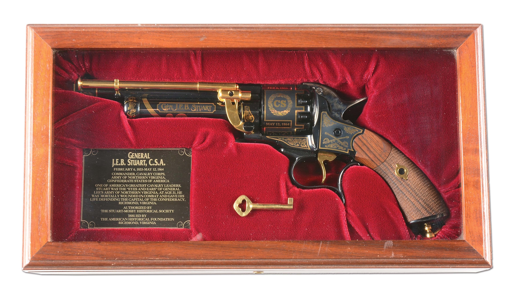 (A) CASED HIGH CONDITION JEB STUART (200/500) LEMAT REVOLVER.