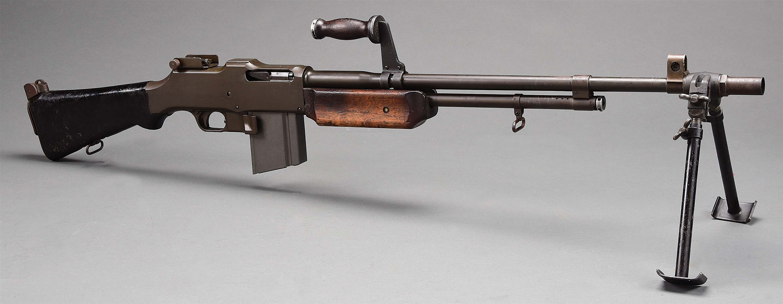 (N) OUTSTANDING AND RARE ORIGINAL LEND-LEASE ROYAL TYPEWRITER MODEL 1918A2 BROWNING AUTOMTIC RIFLE (B.A.R) MACHINE GUN (PRE-86 DEALER SAMPLE).