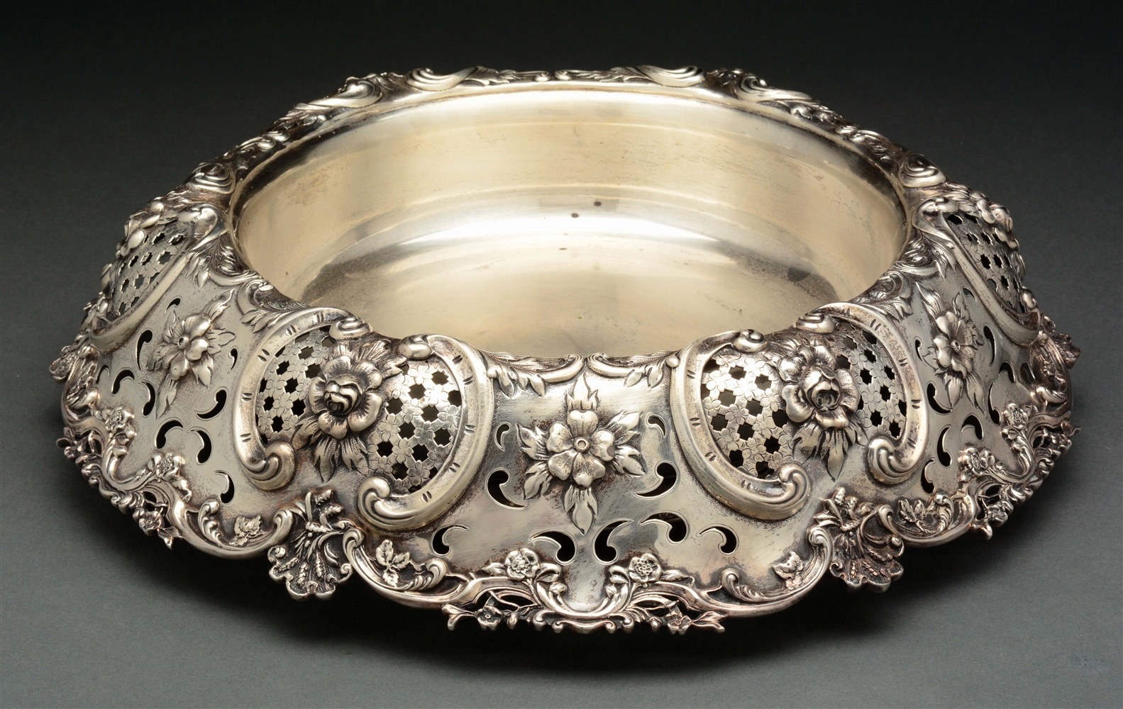 A Large Tiffany Sterling Center Bowl.