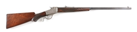 (A) FACTORY ENGRAVED WINCHESTER MODEL 1885 LOW WALL .32 RF SINGLE SHOT RIFLE.