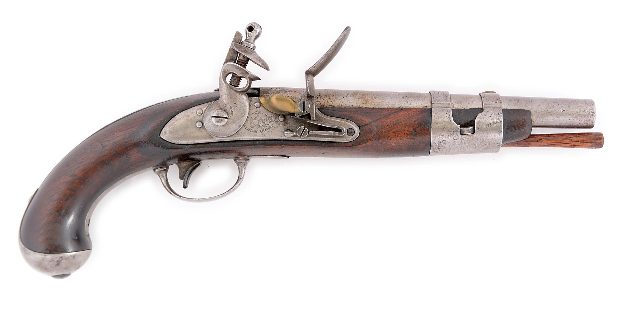 (A) A RARE AND DESIRABLE SOUTH CAROLINA MARKED US MODEL 1816 SINGLE SHOT MARTIAL PISTOL BY S. NORTH.