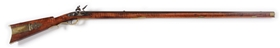 (A) EARLY PENNSYLVANIA FLINTLOCK KENTUCKY RIFLE.