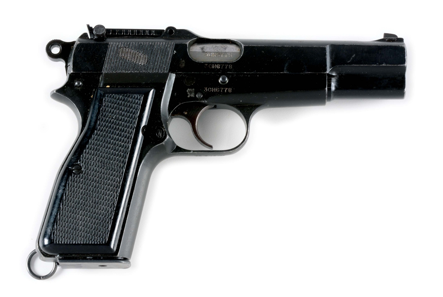 (C) INGLIS BROWNING HI-POWER SEMI-AUTOMATIC PISTOL.