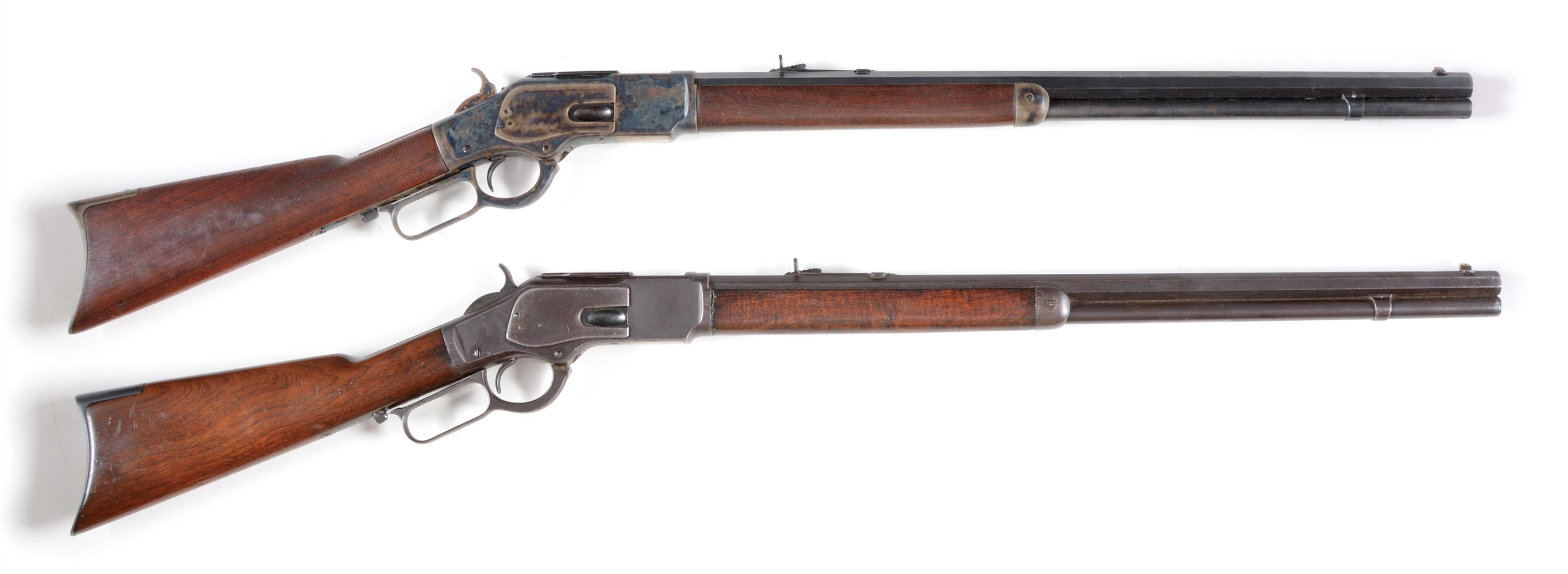 (A) LOT OF 2: WINCHESTER 1873 LEVER ACTION RIFLES.