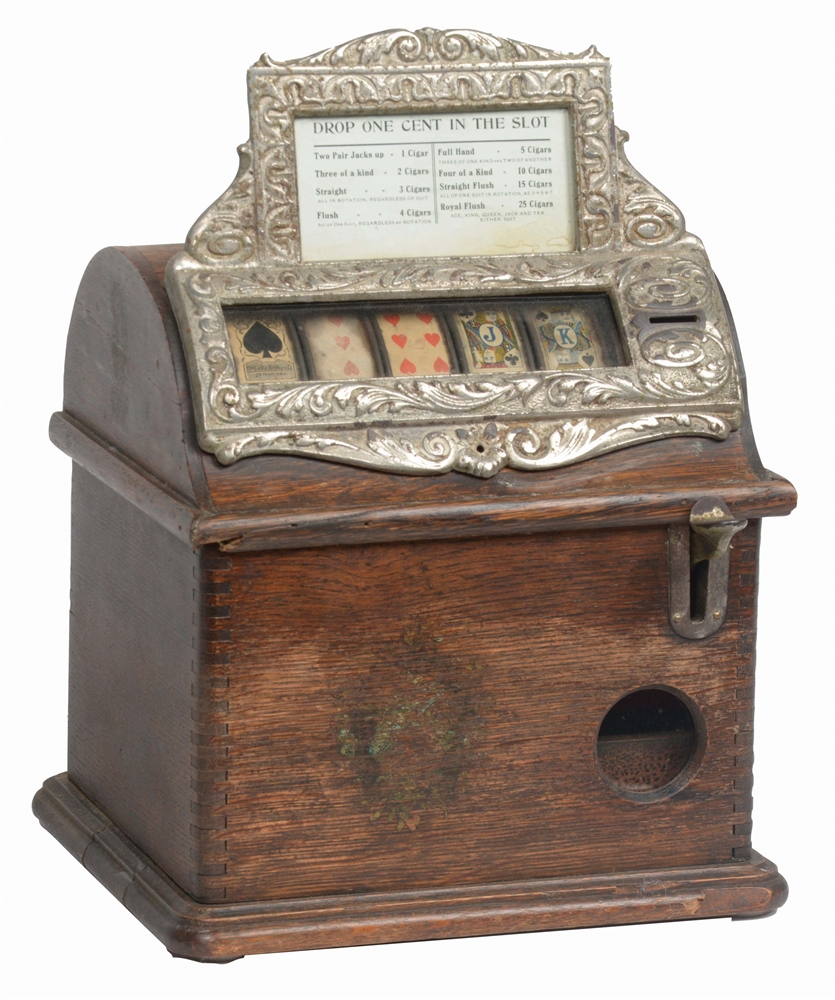 "1¢ CAILLE BROTHERS ""GOOD LUCK"" CIGAR TRADE STIMULATOR."